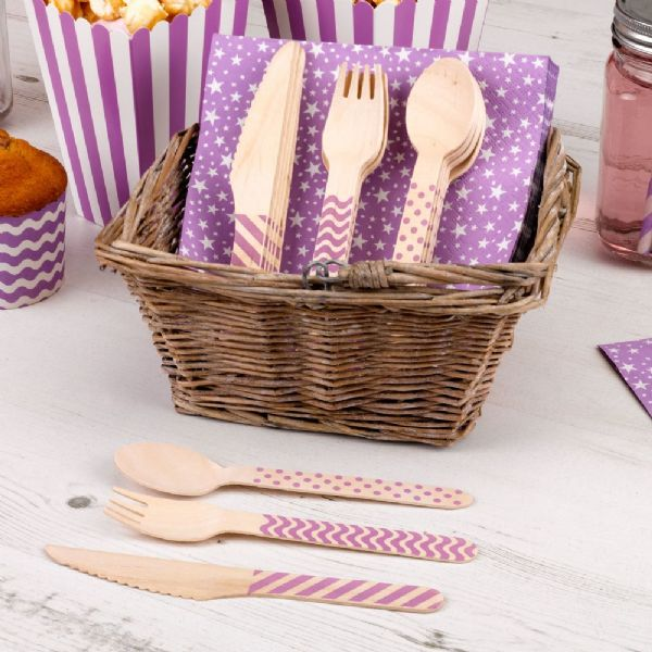 Carnival Purple Cutlery Set (24)